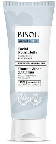 Verjüngendes Gesichtsgelee mit Peptiden und Multivitaminen für alle Hauttypen - Bisou AntiAge Bio Facial Polish Jelly