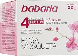 Düfte, Parfümerie und Kosmetik Revitalisierende und straffende Creme für Gesicht, Hals und Dekolleté mit Hagebutte - Babaria Rosa Mosqueta 4 Effects Facial Cream