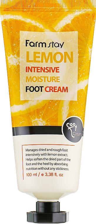 Intensiv feuchtigkeitsspendende Fußcreme mit Zitronenextrakt - FarmStay Lemon Intensive Moisture Foot Cream