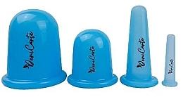 Düfte, Parfümerie und Kosmetik Silikondosen für Vakuum-Körper- und Gesichtsmassage 37165 blau - Deni Carte