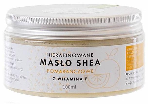 Unraffinierte Sheabutter mit Orangenduft und Vitamin E für Körper und Gesicht - Natur Planet Orange Shea Butter Unrefined & Vitamin E