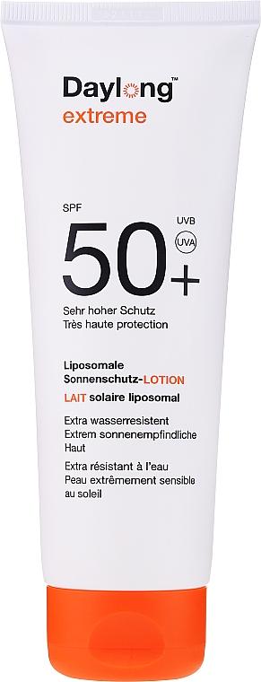 Wasserfeste liposomale Sonnenschutzlotion für den Körper mit Aloe Vera und Vitamin E SPF 50+ - Daylong Extreme Lotion SPF 50