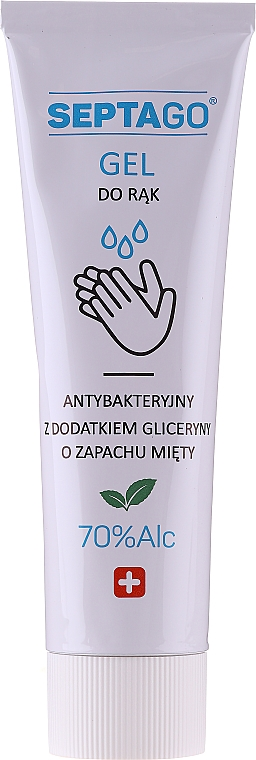 Antibakterielles Handgel mit Minzduft - Septago Gel — Bild N1
