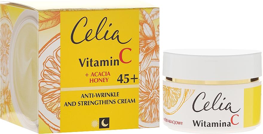 Tag & Nacht stärkende Gesichtscreme mit Vitamin C 45+ - Celia Witamina C