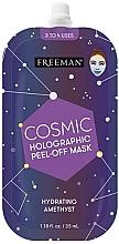 Düfte, Parfümerie und Kosmetik Feuchtigkeitsspendende Peeling-Maske für das Gesicht - Freeman Beauty Cosmic Holographic Peel-Off Hydrating Amethyst Mask