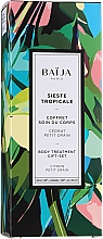 Düfte, Parfümerie und Kosmetik Körperpflegeset - Baija Sieste Tropicale (Duschgel 100ml + Körpercreme 75ml + Körperpeeling 60ml)