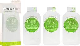 Düfte, Parfümerie und Kosmetik Zuckerpeeling für schöne Hände und Nägel mit grünem Tee - Voesh Mani In A Box Green Tea (10 g)