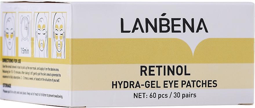 Hydrogel-Augenpatches mit Retinol - Lanbena Retinol Collagen Hydra-Gel Eye Patch