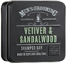 Düfte, Parfümerie und Kosmetik Stärkendes und glättendes festes Shampoo mit Hanfsamenöl und Weizenprotein - Scottish Fine Soaps Mens Grooming Vetiver & Sandalwood Shampoo Bar