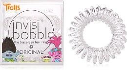 "Düfte, Parfümerie und Kosmetik Haargummis ""Troll Sparkling Clear"" 3 St. - Invisibobble Troll Sparkling Clear"