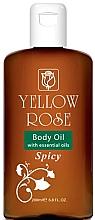 Düfte, Parfümerie und Kosmetik Olejek do ciała - Yellow Rose Body Oil With Essential Oils Spicy