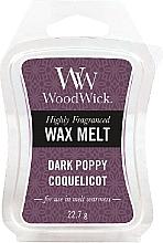 Düfte, Parfümerie und Kosmetik Duftwachs Dark Poppy Coquelicot - WoodWick Wax Melt Dark Poppy