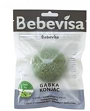 Düfte, Parfümerie und Kosmetik Konjac-Schwamm für das Gesicht mit grünem Tee - Bebevisa Konjac Sponge