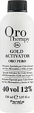 Düfte, Parfümerie und Kosmetik Entwicklerlotion mit goldenen Mikropartikeln und Arganöl 12% - Fanola Oro Gold