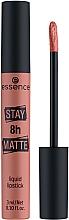 Düfte, Parfümerie und Kosmetik Flüssiger langanhaltender Lippenstift mit mattem Finish - Essence Stay 8H Matte Liquid Lipstick