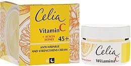 Düfte, Parfümerie und Kosmetik Tag & Nacht stärkende Gesichtscreme mit Vitamin C 45+ - Celia Witamina C