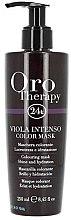 Düfte, Parfümerie und Kosmetik Haarmaske-Farbe mit Keratin, Gold und Arganöl - Fanola Oro Therapy Viola Intenso Color Mask