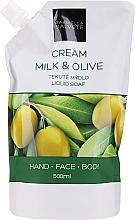 Düfte, Parfümerie und Kosmetik Flüssigseife Milch & Olive - Gabriella Salvete Milk & Olive Liquid Soap (Doypack)