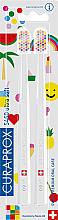 Düfte, Parfümerie und Kosmetik Kinderzahnbürste ultra weich CS 5460 weiß 2 St. - Curaprox Ultra Soft Pop Art Edition