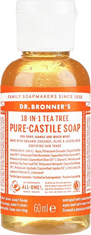 Flüssigseife mit Teebaum für Körper und Hände - Dr. Bronner's 18-in-1 Pure Castile Soap Tea Tree