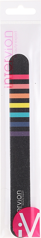 Nagelfeile schwarz mit farbigen Streifen - Inter-Vion — Bild N1