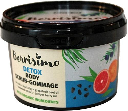 Entgiftendes Körperpeeling-Gommage mit Wacholderbeeren- und Grapefruitschalenöl - Berrisimo Detox Body Scrub-Gommage