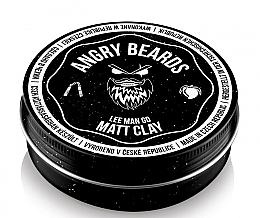 Düfte, Parfümerie und Kosmetik Mattierende Haarpomade mit Litschi- und Mangoduft - Angry Beards Lee Man Go Matt Clay