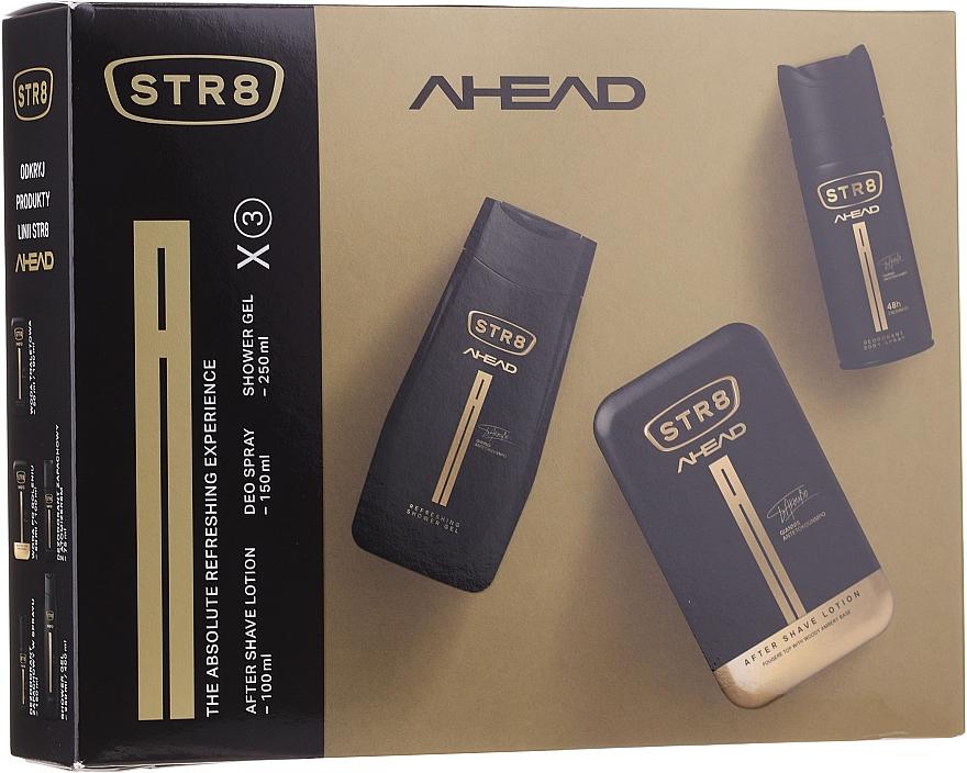 STR8 Ahead - Duftset (After Shave Lotion 100ml + Deospray 150ml + Duschgel 250ml)