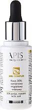 Düfte, Parfümerie und Kosmetik Säurekomplex für das Gesicht mit Azelainsäure, Mandelsäure und Milchsäure - APIS Professional AML Complex KWAS 30%