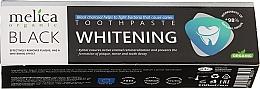 Düfte, Parfümerie und Kosmetik Aufhellende Zahnpasta mit Aktivkohle - Melica Organic Toothpaste Whitening Black