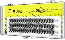 Düfte, Parfümerie und Kosmetik Künstliche Wimpernbüschel für doppeltes Volumen 9 mm, 10 mm, 11 mm - Clavier DU2O Double Volume MIX