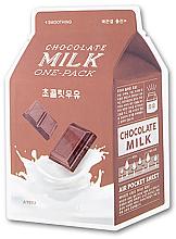 Düfte, Parfümerie und Kosmetik Tuchmaske für das Gesicht mit Kakao-, Milch- und japanischem Aprikosenextrakt - A'pieu Chocolate Milk One-Pack