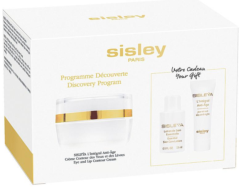 Gesichtspflegeset - Sisleya L'Integral Anti-Age Eye And Lip Contour Cream Set (Gesichtscreme 4ml + Gesichtslotion 15ml + Lippen- und Augenkonturcreme 15ml)