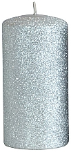 Düfte, Parfümerie und Kosmetik Dekorative Kerze silber - Artman Glamour Ø7 x H14 cm