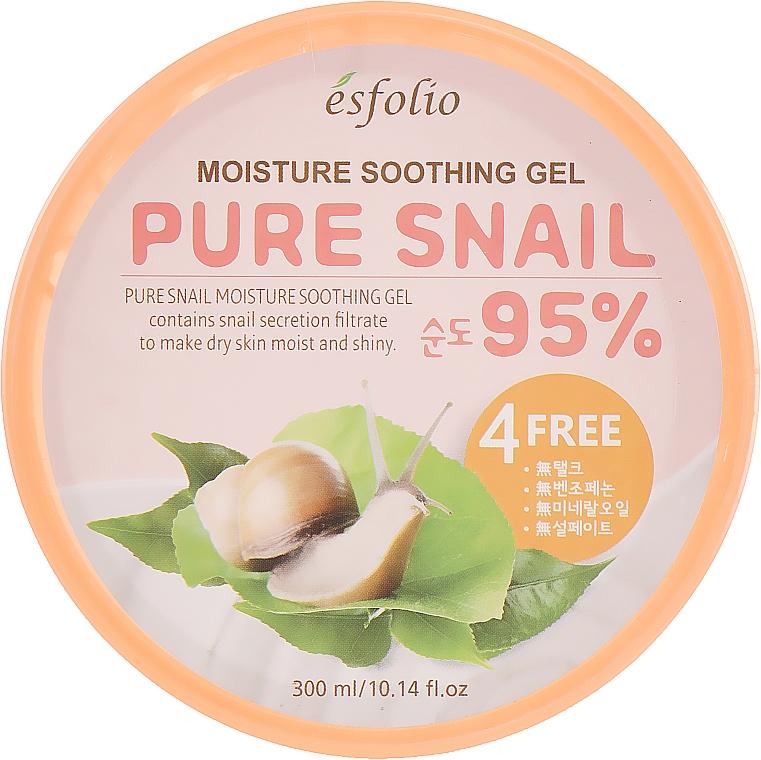 Feuchtigkeitsspendendes und beruhigendes Gesichtsgel mit 95% Schneckenschleimfiltrat - Esfolio Pure Snail Moisture Soothing Gel 95% Purity