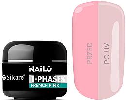 Düfte, Parfümerie und Kosmetik UV-Nagelgel milchig-rosa - Silcare Nailo 1-Phase Gel UV French Pink
