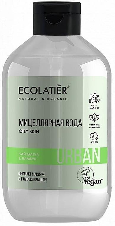 Mizellenwasser zum Abschminken mit Matcha-Tee und Bambus - Ecolatier Urban Micellar Water
