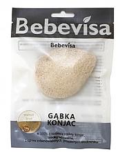 Düfte, Parfümerie und Kosmetik Konjac-Schwamm für das Gesicht mit Walnussschale - Bebevisa Konjac Sponge