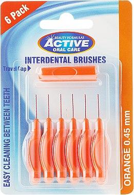 Interdentalzahnbürsten 0,45 mm 6 St. - Beauty Formulas Active Oral Care Interdental Brushes Orange