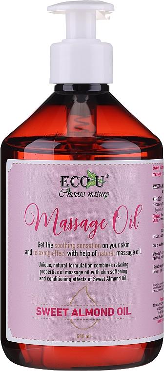 Aufweichendes Massageöl mit Süßmandelöl - Eco U Massage Oil Sweet Almond Oil