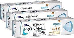 Düfte, Parfümerie und Kosmetik Zahnpasta-Set - Sensodyne Pronamel Gentle Whitening (Zahnpasta 3x75ml)