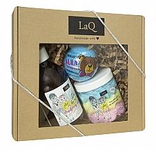 Düfte, Parfümerie und Kosmetik Körperpflegeset - LaQ (Badebombe 110g + Duschgel 300ml + Körperreinigungsschaum 250ml)