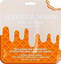 Düfte, Parfümerie und Kosmetik Beruhigende und erfrischende Waffel-Tuchmaske für das Gesicht mit Vanilleextrakt - Kocostar Ice Cream Waffle Mask