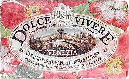 Düfte, Parfümerie und Kosmetik Seife mit Duft von roter Geranie, Reis und Baumwollblume - Nesti Dante Dolce Vivere Soap