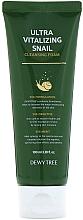 Düfte, Parfümerie und Kosmetik Vitalisierender Gesichtsreinigungsschaum mit Schneckenschleim - Dewytree Ultra Vitalizing Snail Cleansing Foam