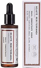 Düfte, Parfümerie und Kosmetik Anti-Aging Gesichtsserum mit Schneckenschleimextrakt und Aloe Vera - Beaute Mediterranea Snail Concentrate Serum