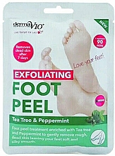 Düfte, Parfümerie und Kosmetik Exfolierende Fußmaske mit Teebaum und Pfefferminze - Derma V10 Foot Peel Sock Mask Tea Tree & Peppermint