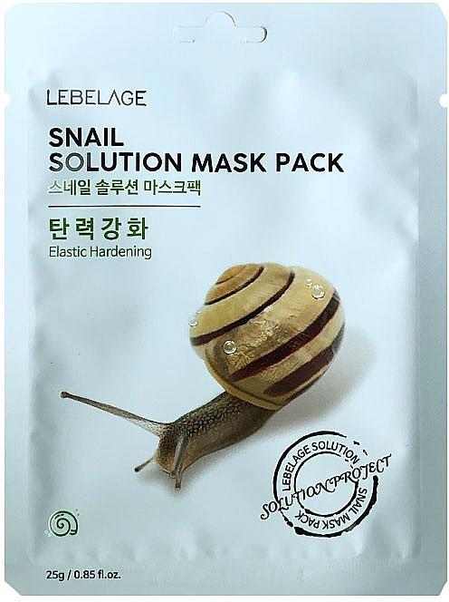 Tuchmaske mit Schneckensekret - Lebelage Snail Solution Mask