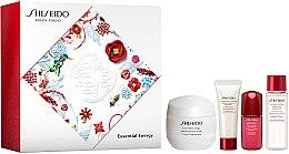 Düfte, Parfümerie und Kosmetik Gesichtspflegeset - Shiseido Essential Energy Holiday Kit (Gesichtscreme/50ml + Reinigungsschaum/15ml + Gesichtslotion/15ml + Gesichtskonzentrat/5ml)