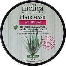 Düfte, Parfümerie und Kosmetik Nährende Haarmaske mit Kräuterextrakten und Panthenol - Melica Organic Nourishing Hair Mask